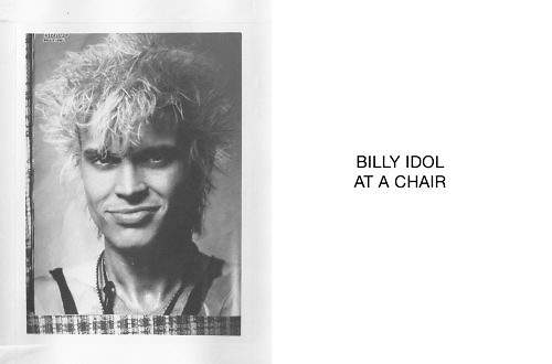 Billy Idol at a chair - © Marcel Koehler